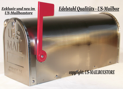 US-MAILBOXSTORE Stainless Steel US-Mailbox, lockable