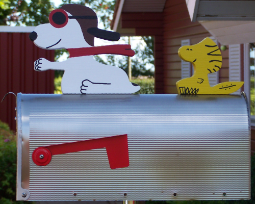 """Snoopy-Friends""  Edelstahl US-Mailbox"