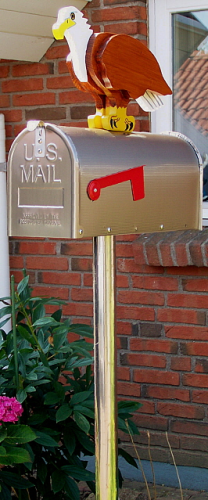 """American Eagle"" Edelstahl US-Mailbox Combo"
