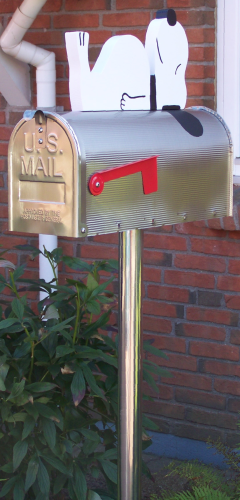 """Snoopy""  Edelstahl US-Mailbox Combo"