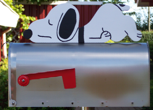 """Snoopy-Relax""  Edelstahl US-Mailbox"