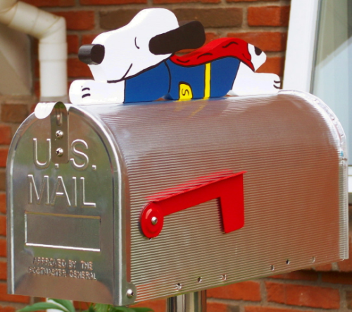 """Super Snoopy""  Edelstahl US-Mailbox Combo"
